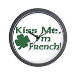 Kiss Me I'm French Wall Clock