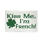 Kiss Me I'm French Rectangle Magnet (10 pack)