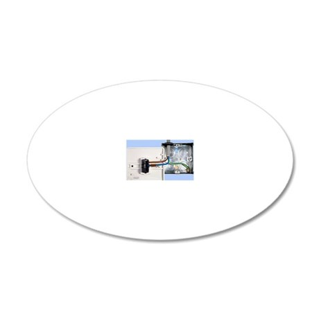 One-way light switch 20x12 Oval Wall Decal
