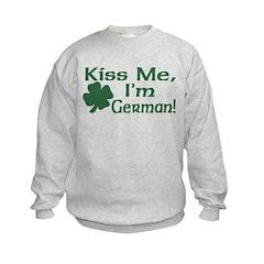 Kiss Me I'm German Kids Sweatshirt