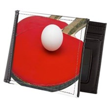 Close up view of table tennis rackets  Mens Wallet