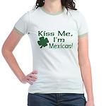 Kiss Me I'm Mexican Jr. Ringer T-Shirt