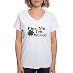 Kiss Me I'm Mexican Women's V-Neck T-Shirt