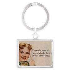Being a Lady Landscape Keychain