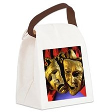 Close-up of tragedy and comedy ma Canvas Lunch Bag