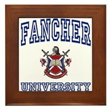 FANCHER University Framed Tile
