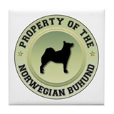 Buhund Property Tile Coaster