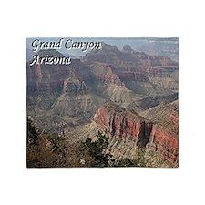 Grand Canyon, Arizona 2 (with captio Throw Blanket