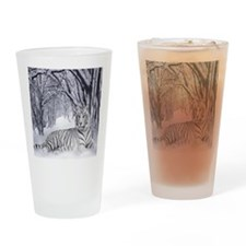 White Tiger Drinking Glass