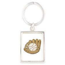 Custom Baseball Portrait Keychain