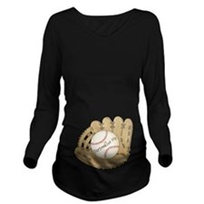 Custom Baseball Long Sleeve Maternity T-Shirt