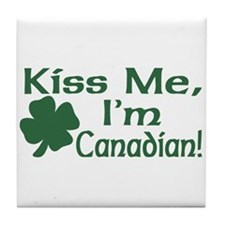 Kiss Me I'm Canadian Tile Coaster