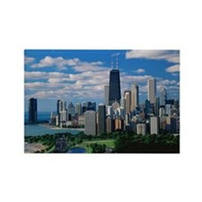 Chicago, Lincoln Park and Diverse Rectangle Magnet