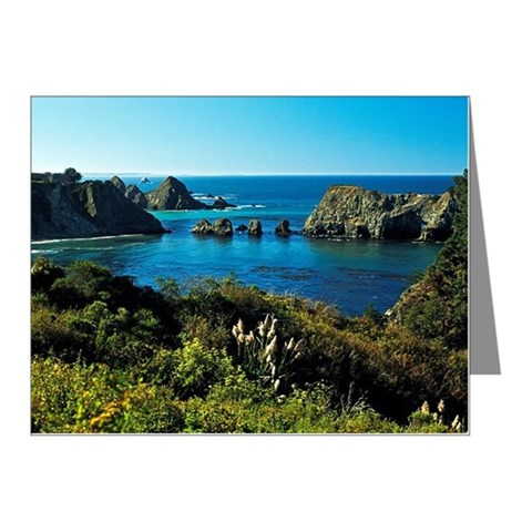 View of the Pacific Ocean Note Cards (Pk of 10)