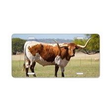 Texas longhorn cattle Aluminum License Plate