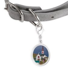 Fog in Trinity Bay, Trinity, Ne Small Oval Pet Tag