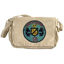 uss henry w. tucker ddr patch transp Messenger Bag