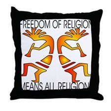 Freedom Means ALL Religions Throw Pillow