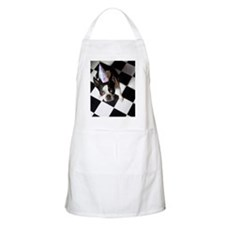 Dog wearing party hat Apron