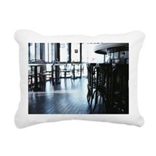 Chairs in Cafe Rectangular Canvas Pillow