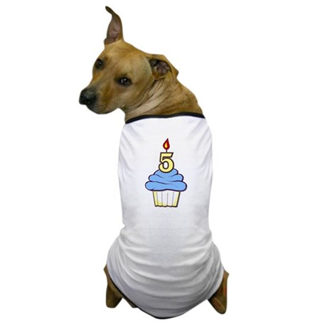 Boy Cupcake 5th Birthday Dog T-Shirt