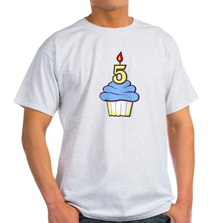 Boy Cupcake 5th Birthday Light T-Shirt