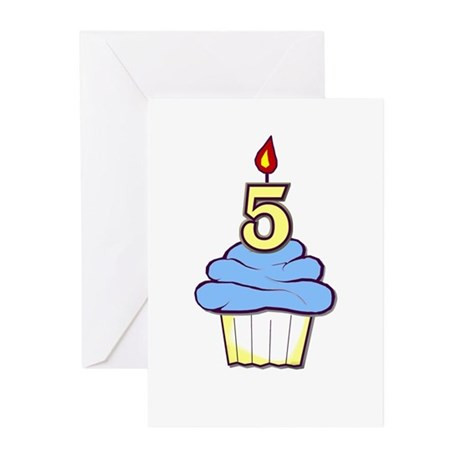 5th Birthday Cupcake (boy) party invitations (10)