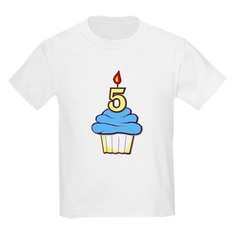 Boy Cupcake 5th Birthday Kids T-Shirt