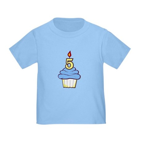 Boy Cupcake 5th Birthday Toddler T-Shirt