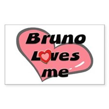 bruno loves me Rectangle Decal
