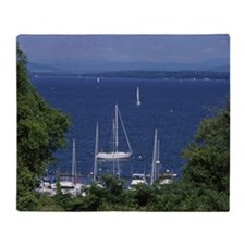 Lake Champlain Vermont New York USA Throw Blanket