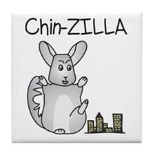 Chin-Zilla Tile Coaster