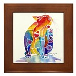 LOVE CAT Bright Colors Framed Tile