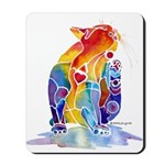 LOVE CAT Bright Colors Mousepad
