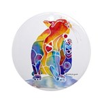 LOVE CAT Bright Colors Ornament (Round)