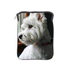 White Westie looking out the window iPad Sleeve
