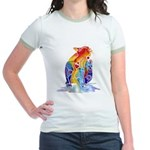 LOVE CAT Bright Colors Jr. Ringer T-Shirt