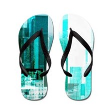 Airplane by city Flip Flops