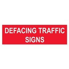 Stop Defacing Stop Signs