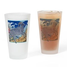 Illustration Ram Running on the Mou Drinking Glass