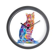Whimsical Elegant Cat Wall Clock