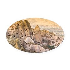 Old troglodytic cave dwellings Oval Car Magnet