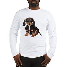 Dachshund puppy 3 mos on white Long Sleeve T-Shirt