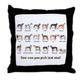 Greyhound Colors Throw Pillow