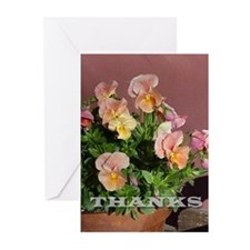 Pansy Thank You Greeting Cards (Pk of 10)