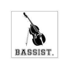 """Bassist-01-a Square Sticker 3"""" x 3"""""""