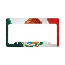 Close up of Mexican flag License Plate Holder