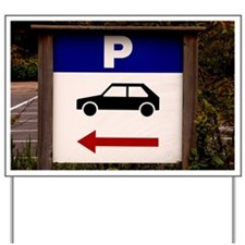 Parking sign with arrow Yard Sign