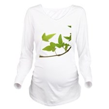 Ivy leaves on white  Long Sleeve Maternity T-Shirt