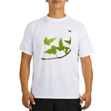 Ivy leaves on white backgr Performance Dry T-Shirt